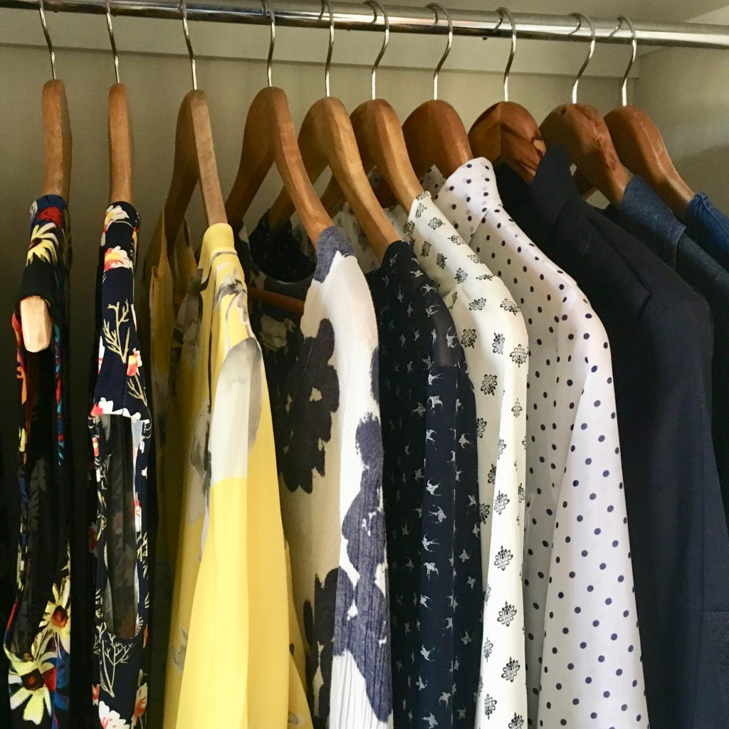 Styling session with a stylist to create a minimalist wardrobe