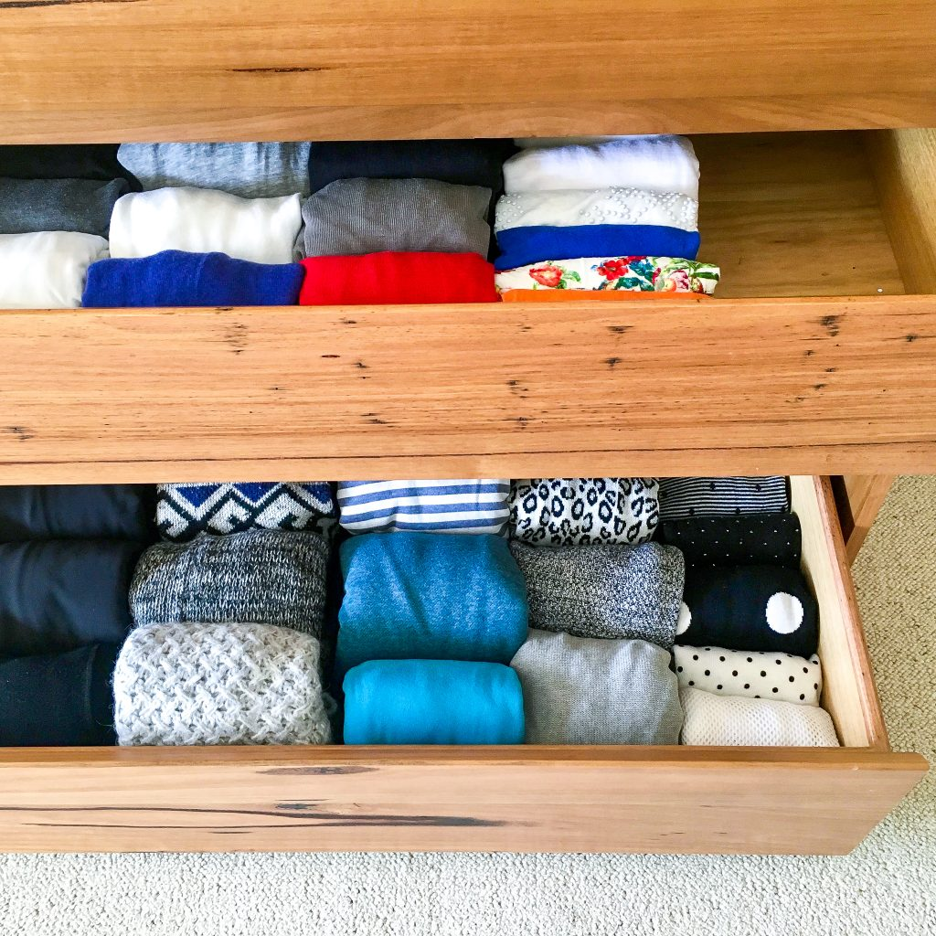 A professional declutters her own wardrobe