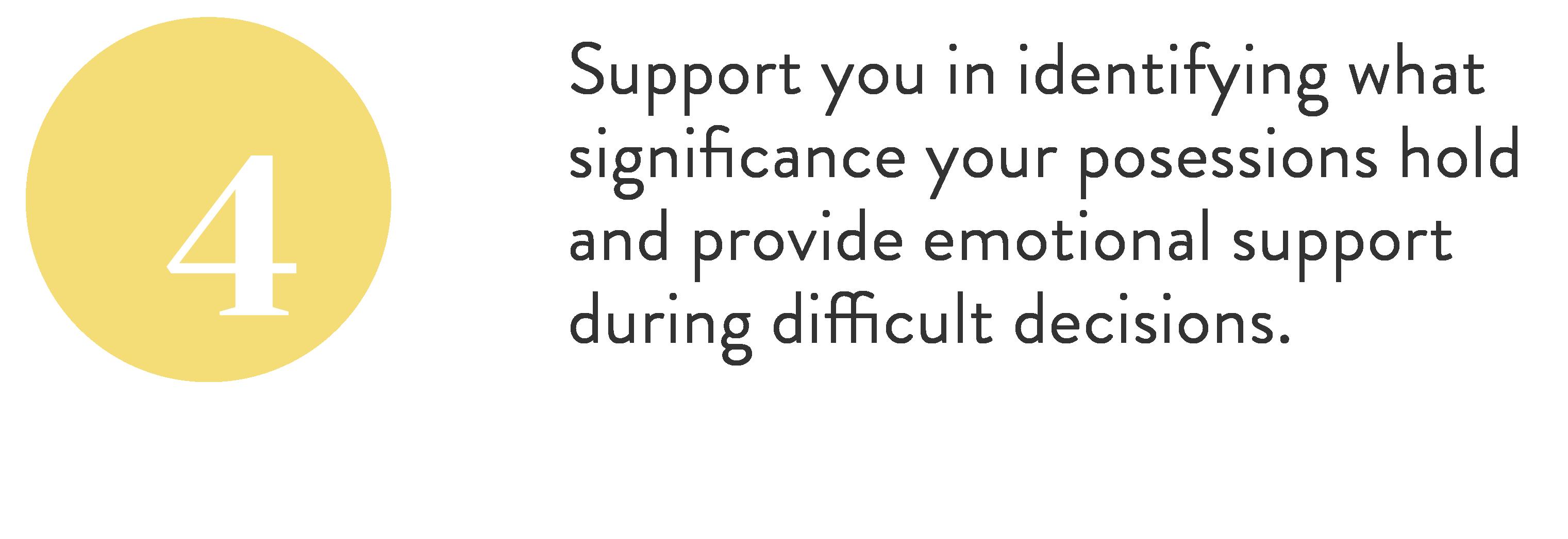 emotional support through decluttering