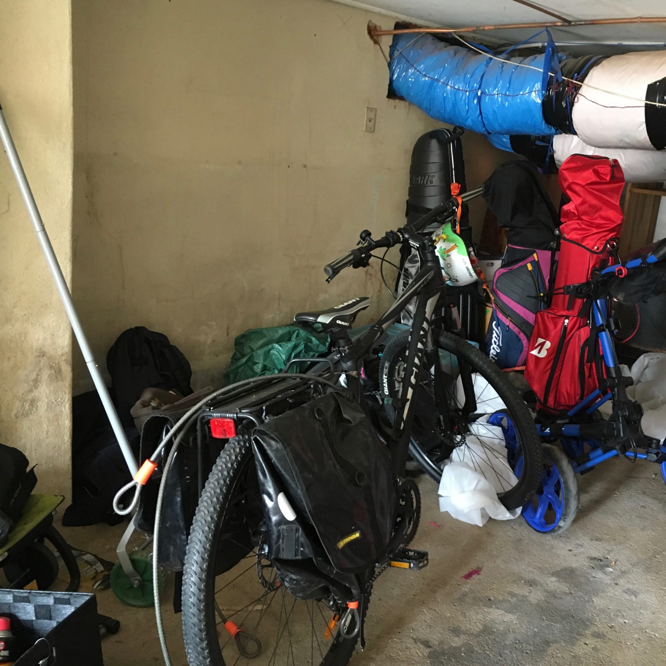 Before Bike and Garage Organisation - The Organising Bee Canberra