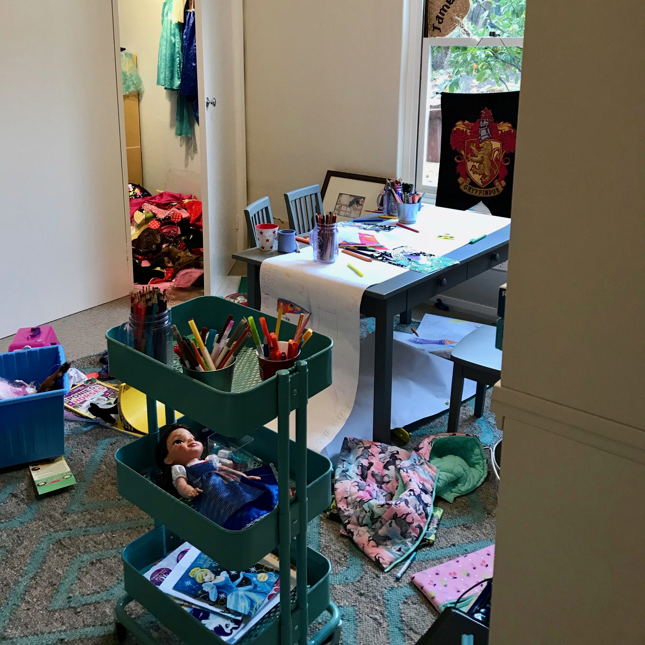 Cluttered Playroom Organisation - The Organising Bee Canberra