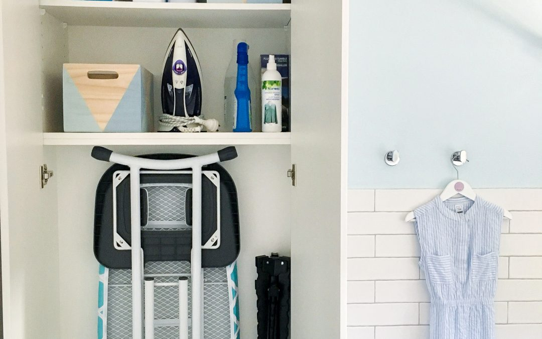 Creating a combined laundry and guest bathroom