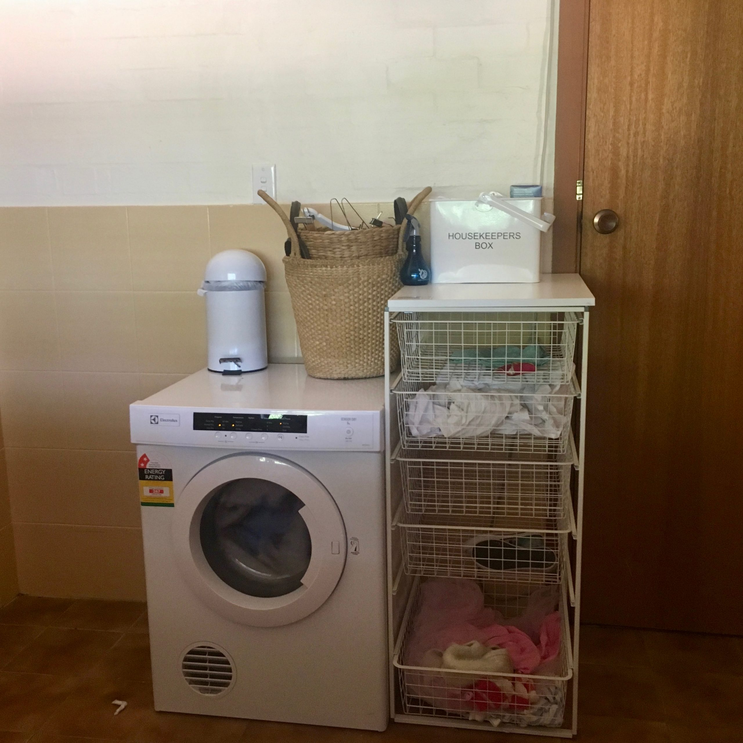 Laundry & Bathroom Renovation Before: laundry sorting system - The Organising Bee