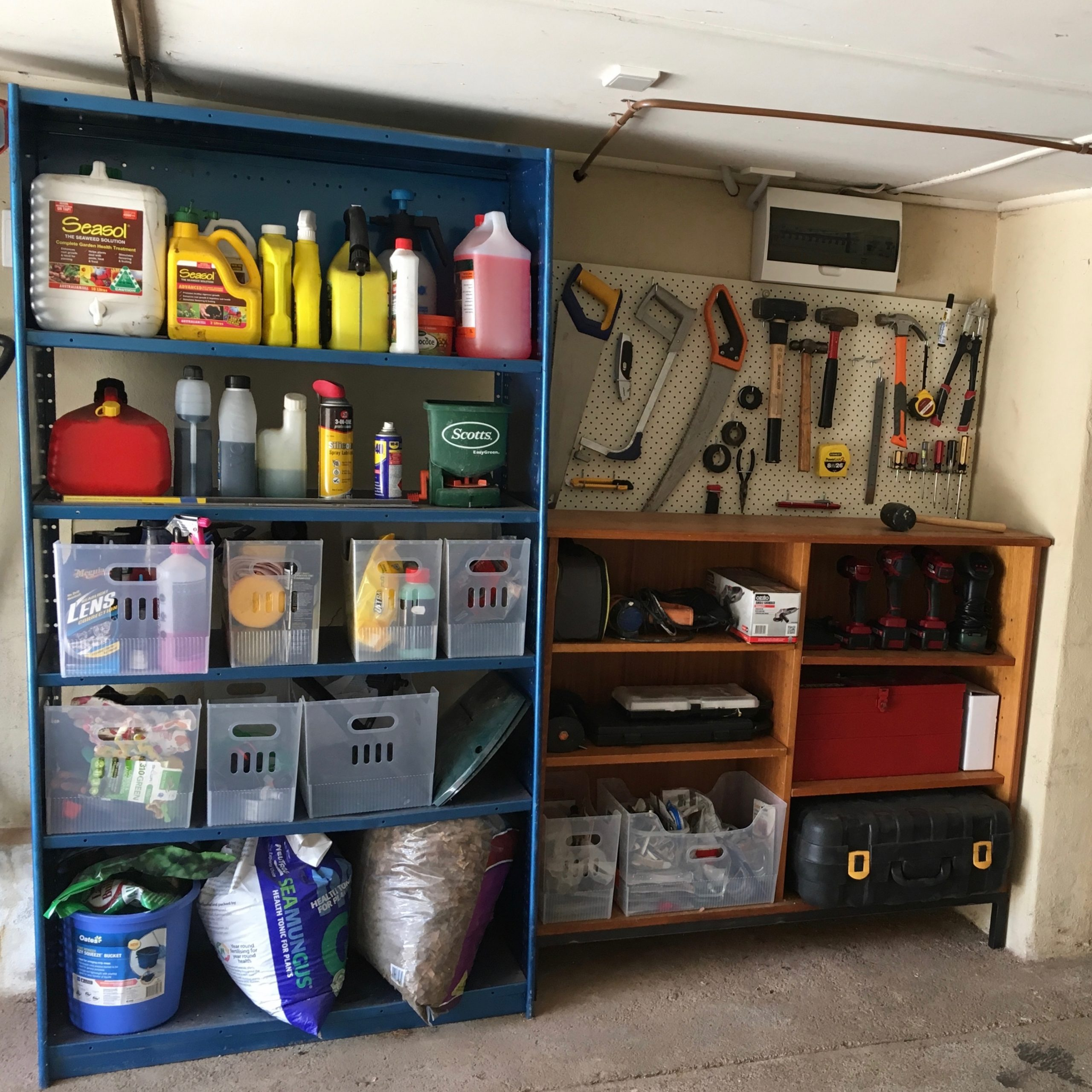 After Garage Declutter and Organisation - The Organising Bee Canberra