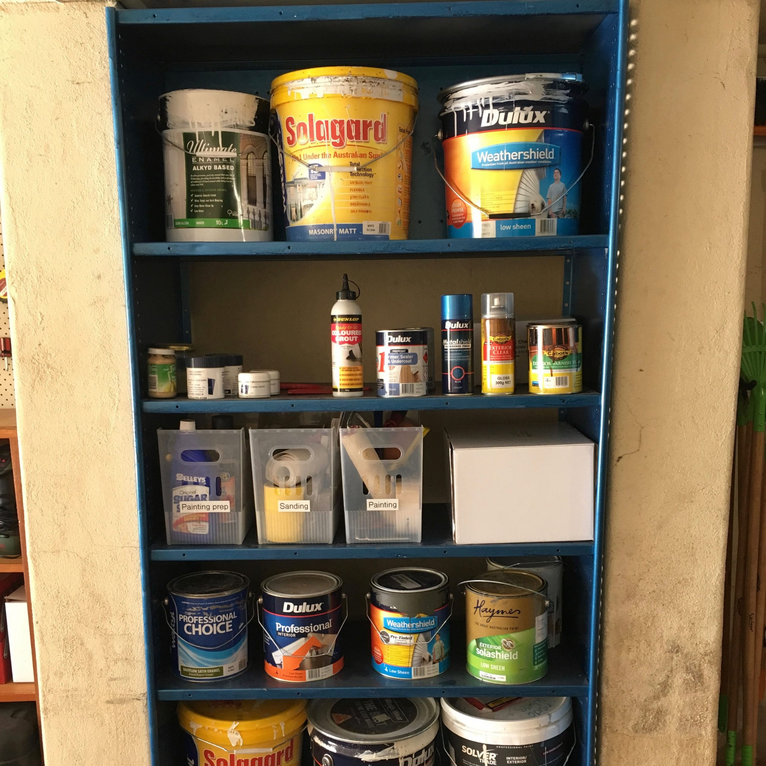 After Paint and Garage Organisation - The Organising Bee Canberra