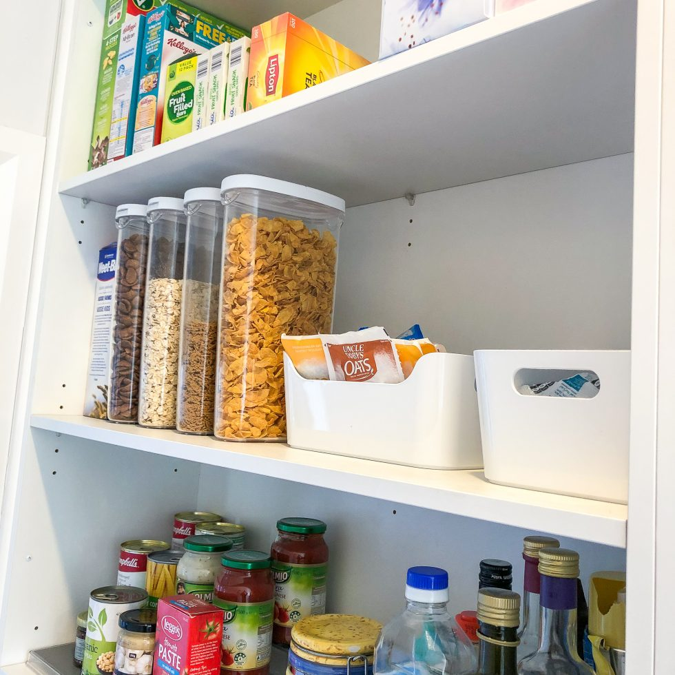 Structuring and categorising a walk-in pantry