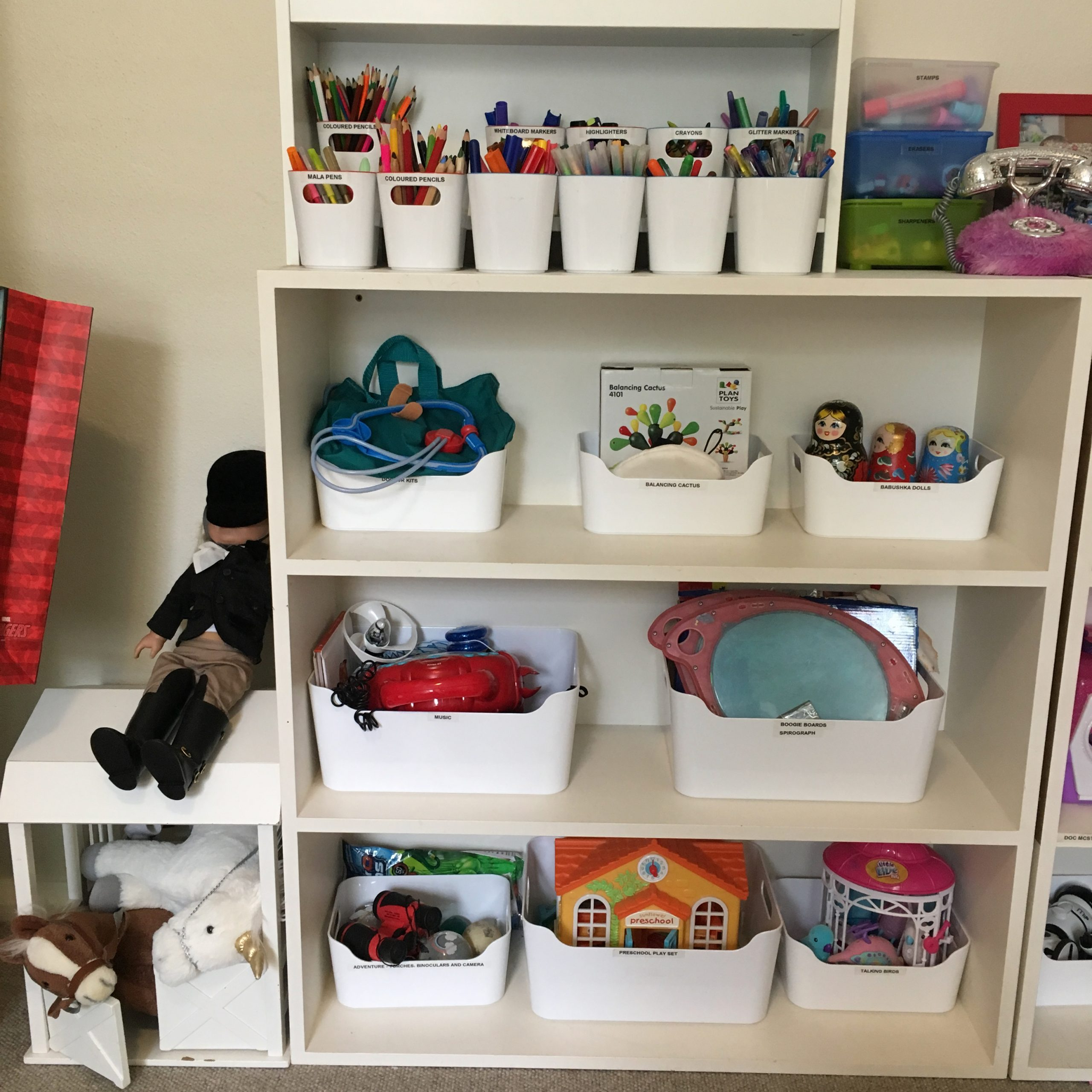 Playroom Toy Storage Organisation - The Organising Bee Canberra