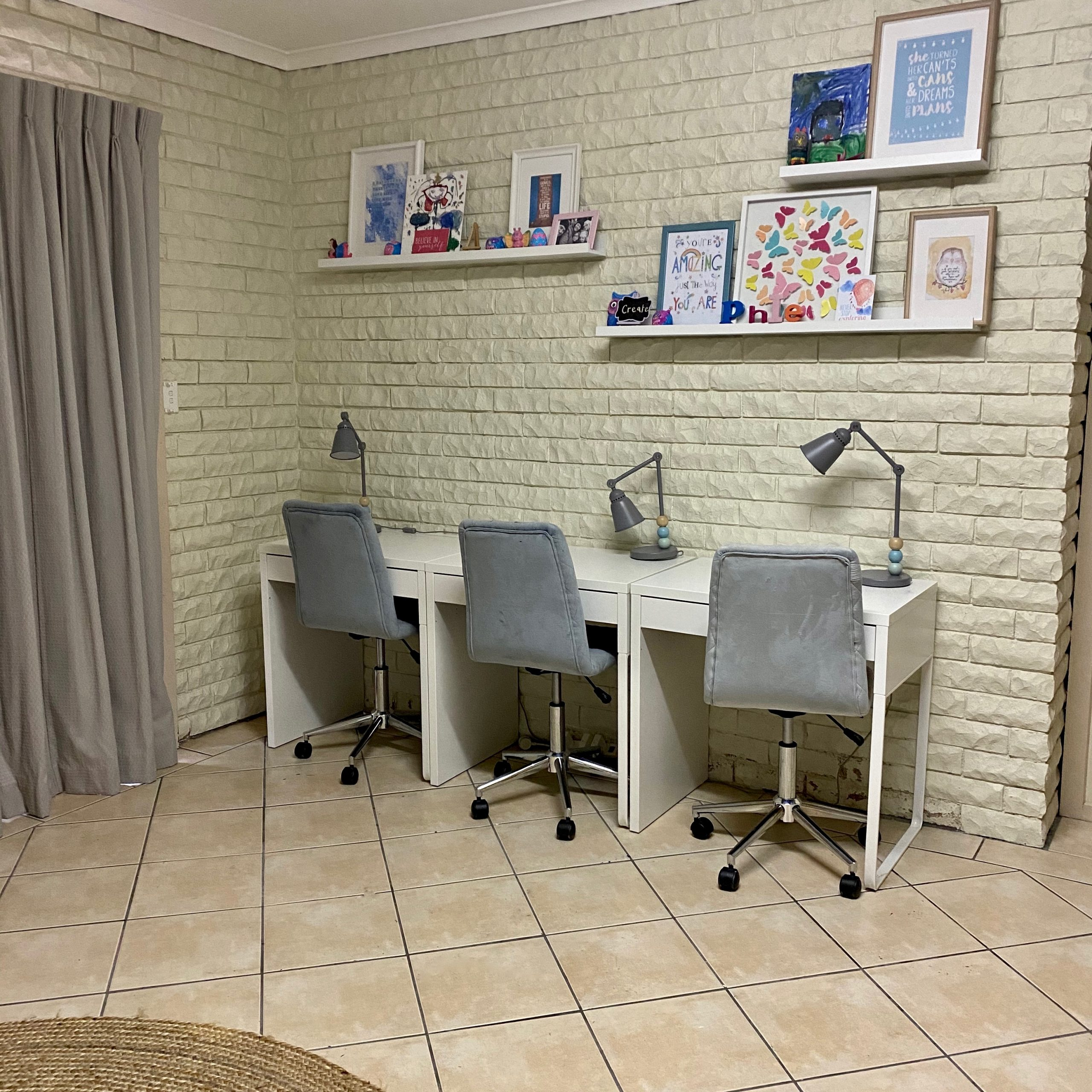 Children's Study Desks After Organisation - The Organising Bee Canberra