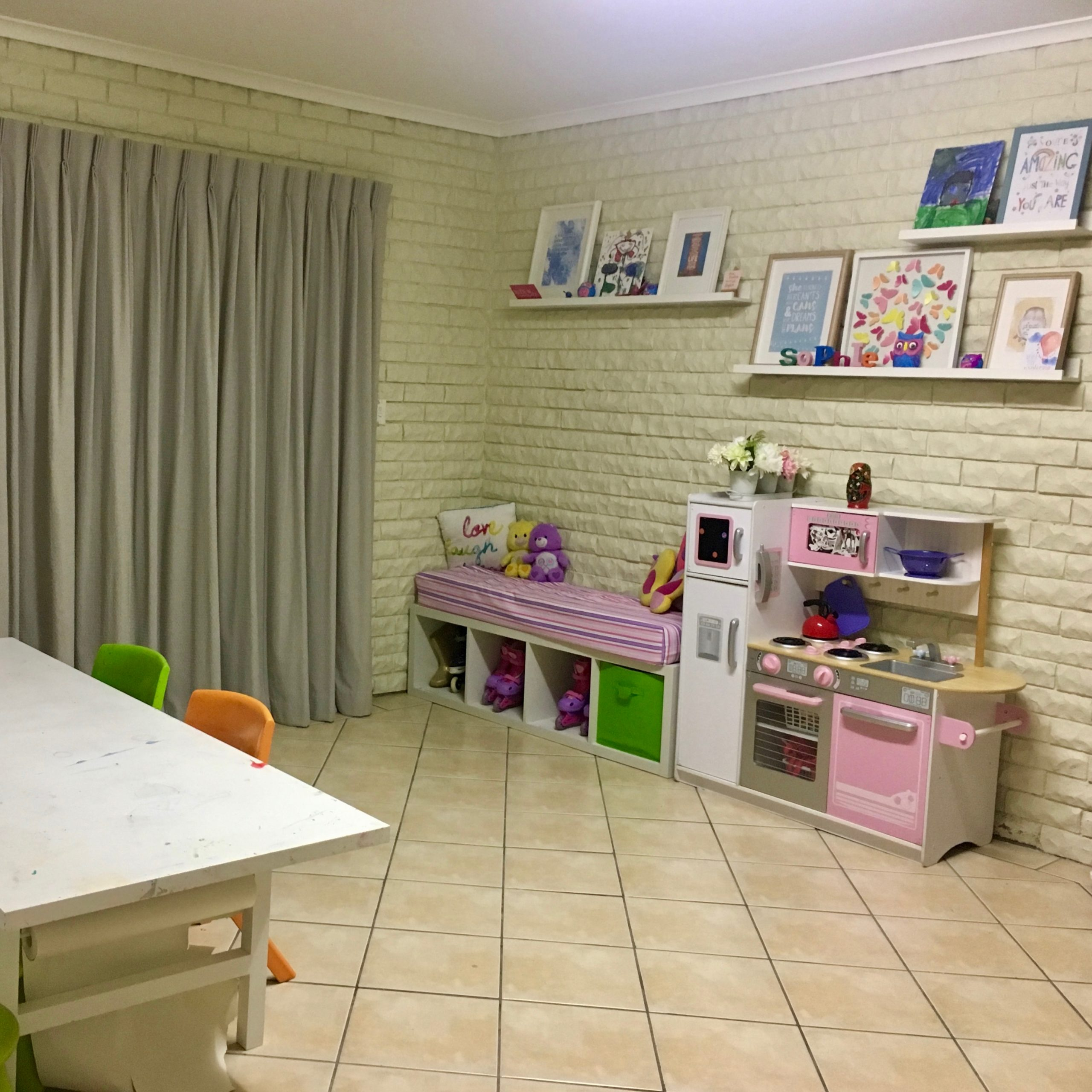 Playroom Home Corner Before Organisation - The Organising Bee Canberra