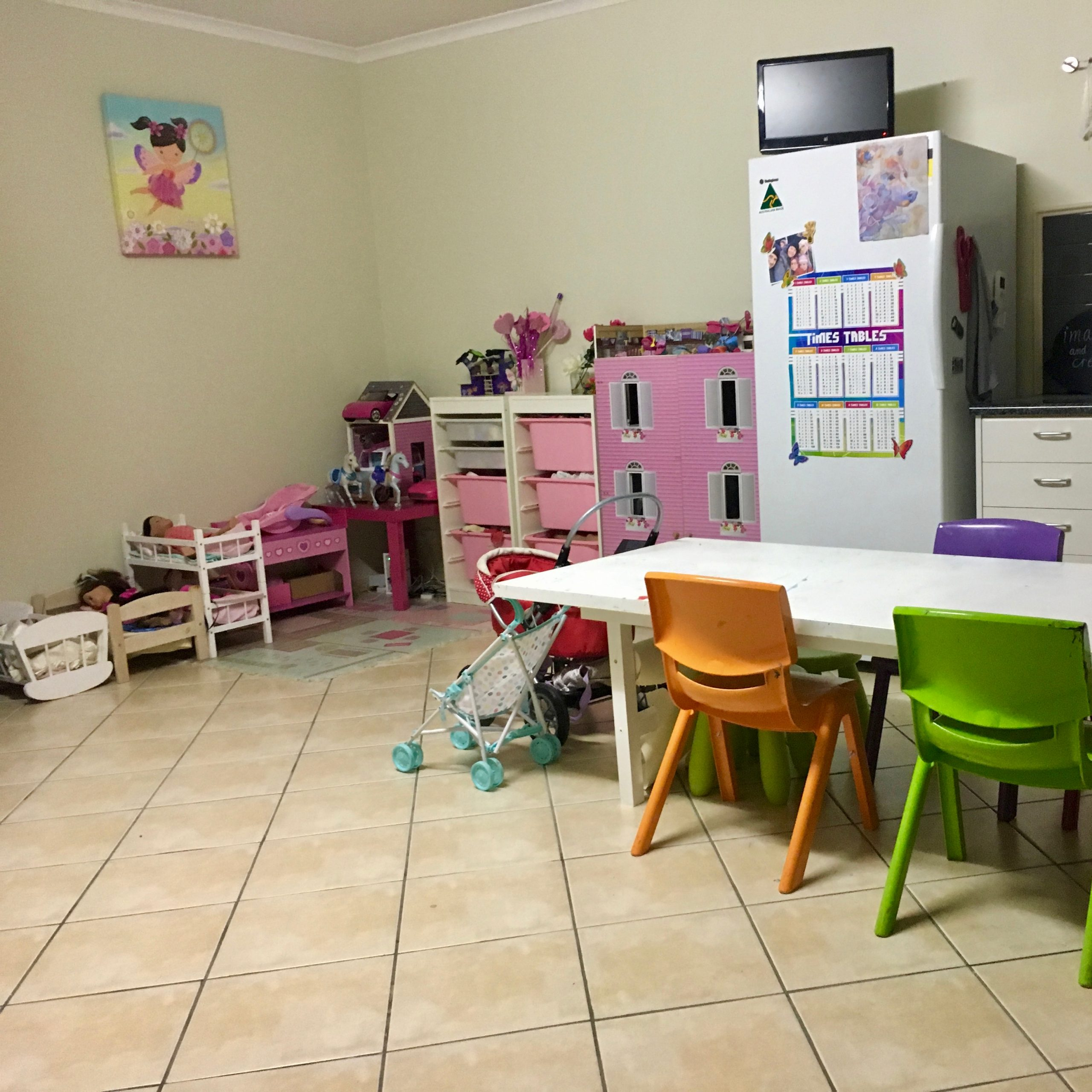 Playroom Doll Storage Before Organisation - The Organising Bee Canberra