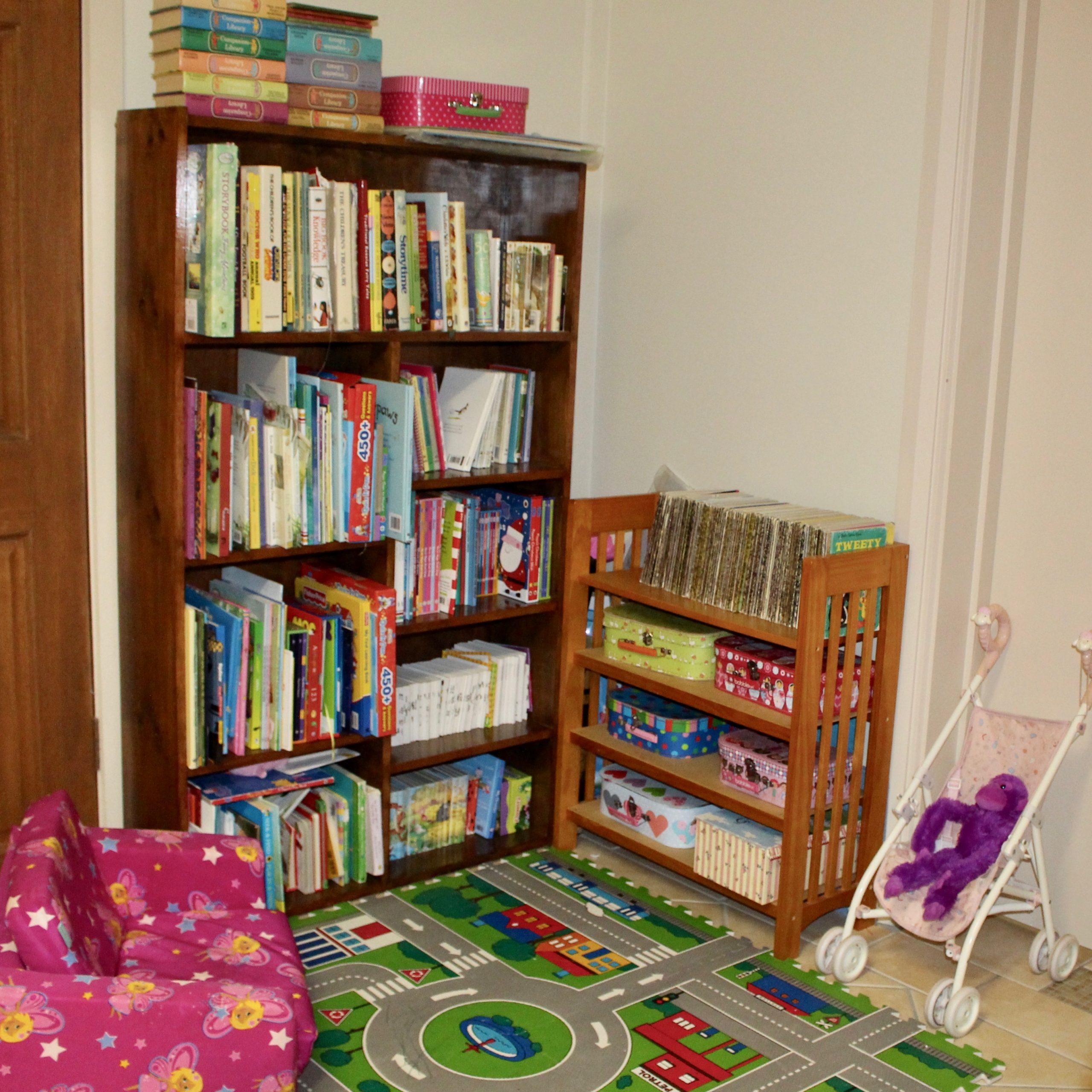 Playroom Reading Corner Before Organisation - The Organising Bee Canberra