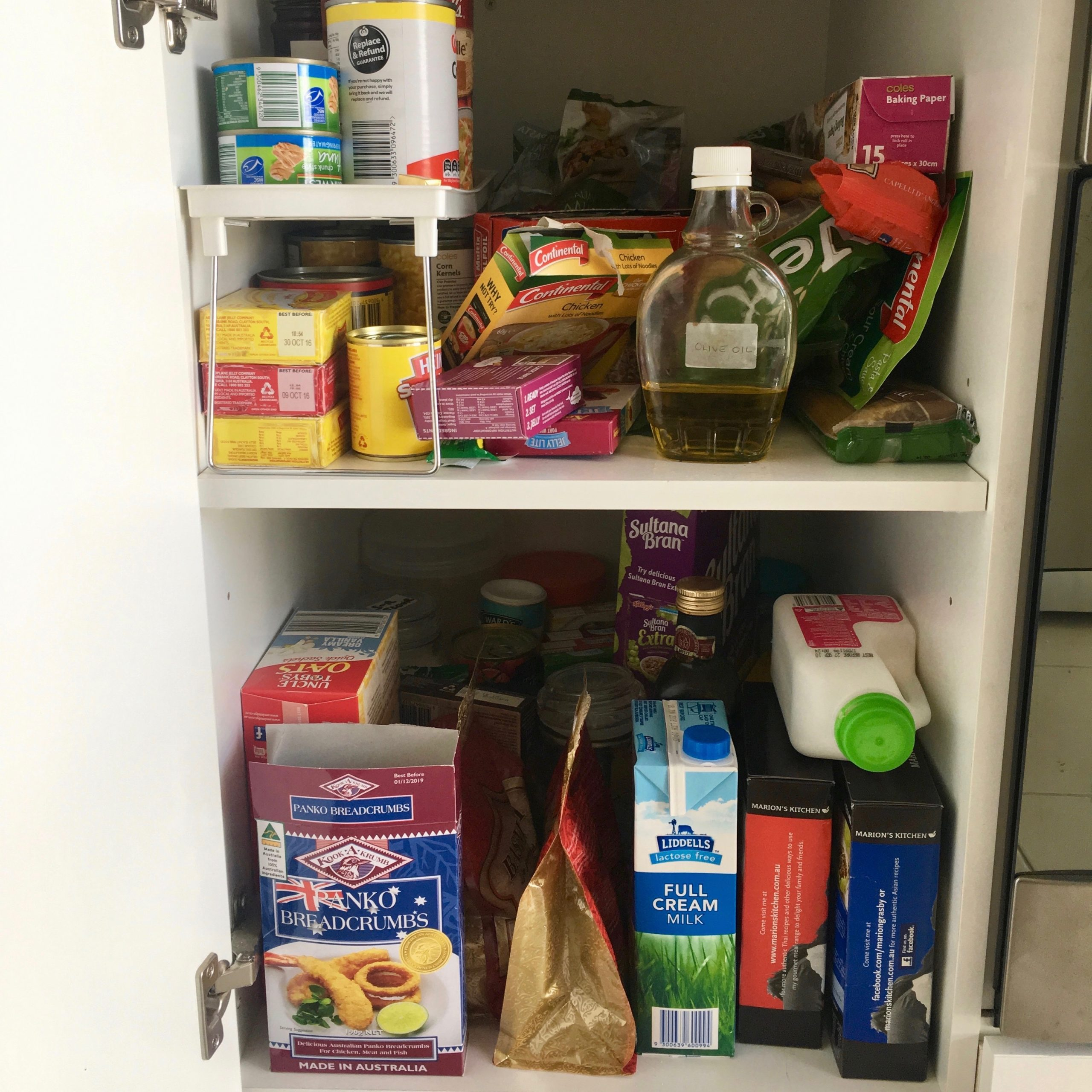 Tiny Pantry Organisation Before - The Organising Bee Canberra