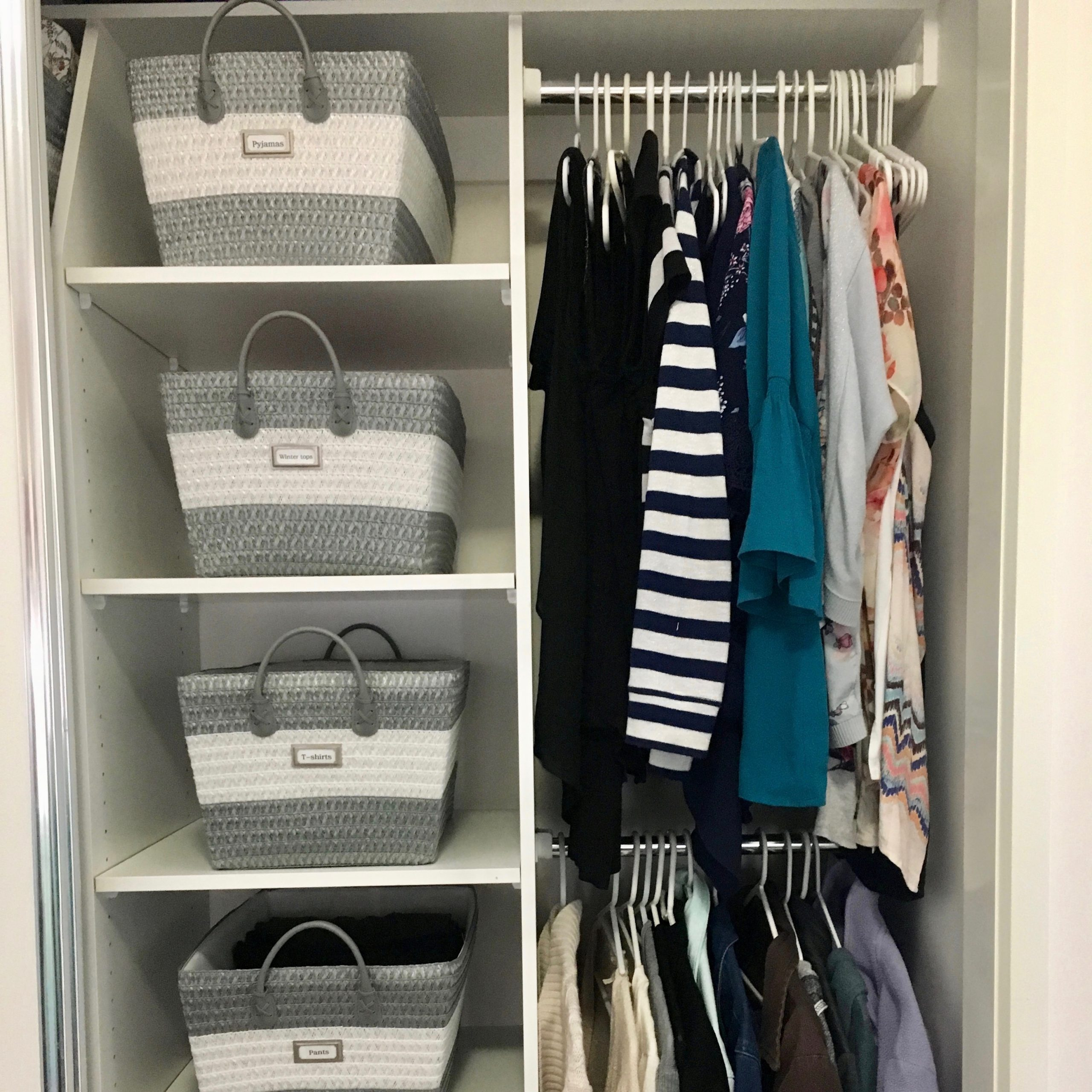 Wardrobe Organisation After - The Organising Bee Canberra