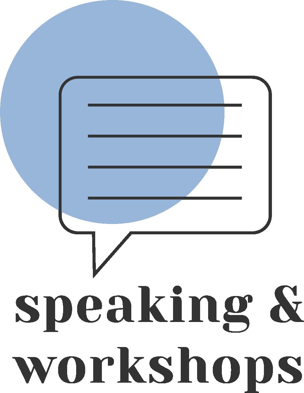 Speaking and workshops hover image