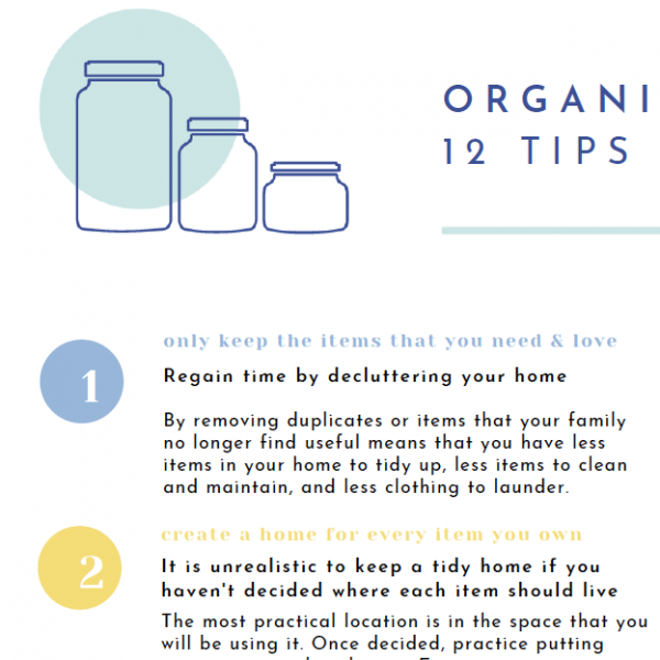 Tips for Organised Families Close up - The Organising Bee Canberra
