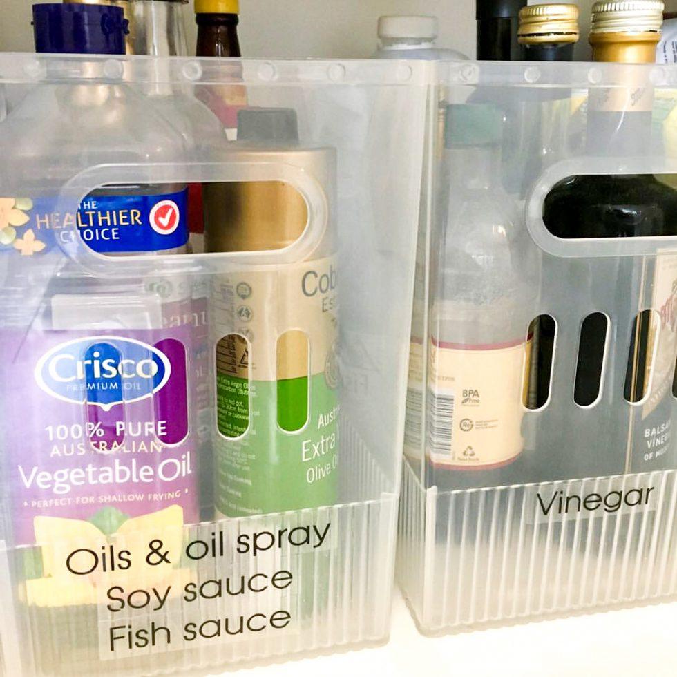 Organising heavy pantry items